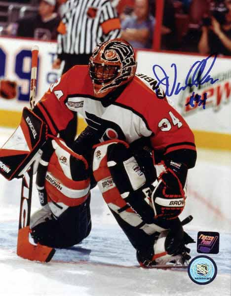 john vanbiesbrouck philadelphia flyers black vic game used