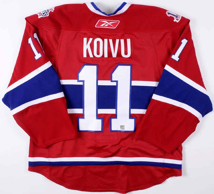 2008-09 Saku Koivu Montreal Canadiens Game Worn Jersey -