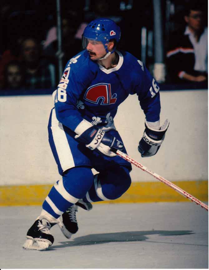 1986 87 Michel Goulet Quebec Nordiques Game Worn Jersey