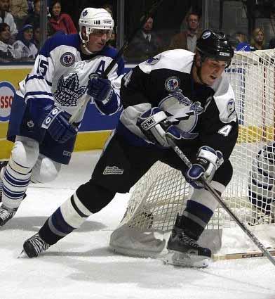 2005-06 Vincent Lecavalier Tampa Bay Lightning Game Worn Jersey ... b41d6d4e9