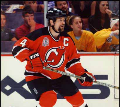 best service 9ea1f 79315 Scott Stevens New Jersey Devils Green Easton Game Used Stick ...