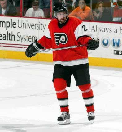 Peter Forsberg Philadelphia Flyers Grey Easton Game Used