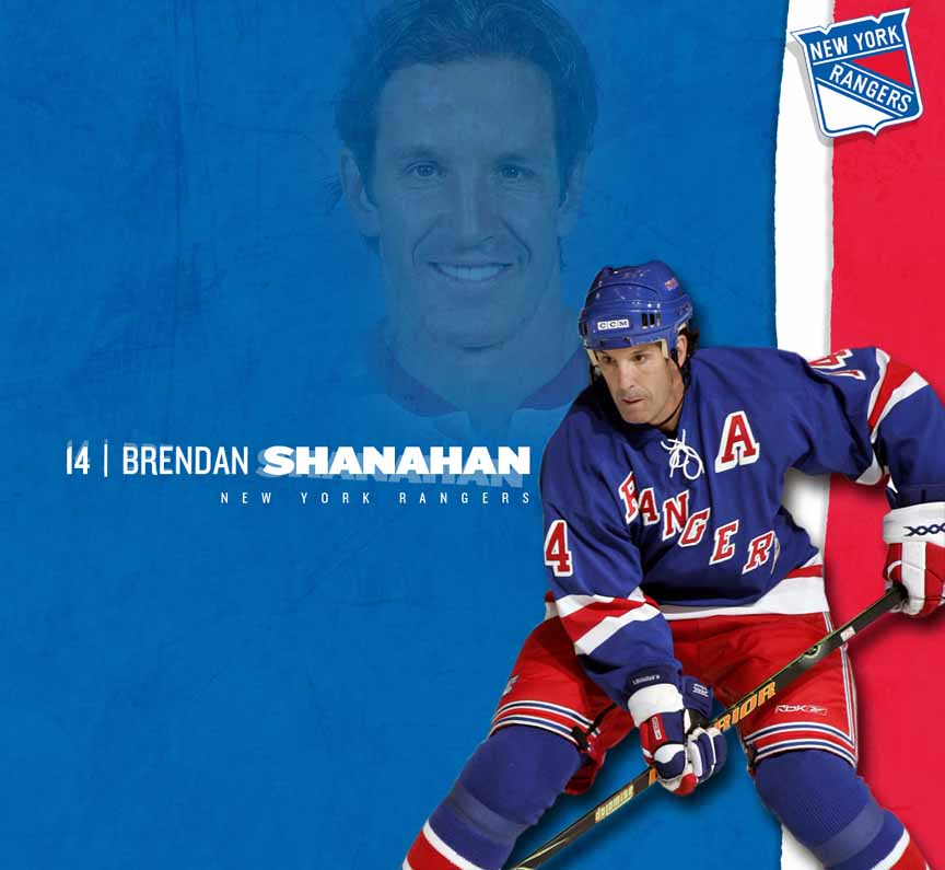 Brendan Shanahan New York Rangers Black Warrior Game Used