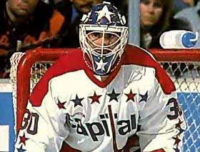 1987 88 Clint Malarchuk Washington Capitals Game Worn Jersey
