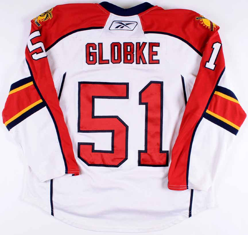 2007-08 Rob Globke Florida Panthers Game Worn Jersey - Last NHL ... 5e094783a