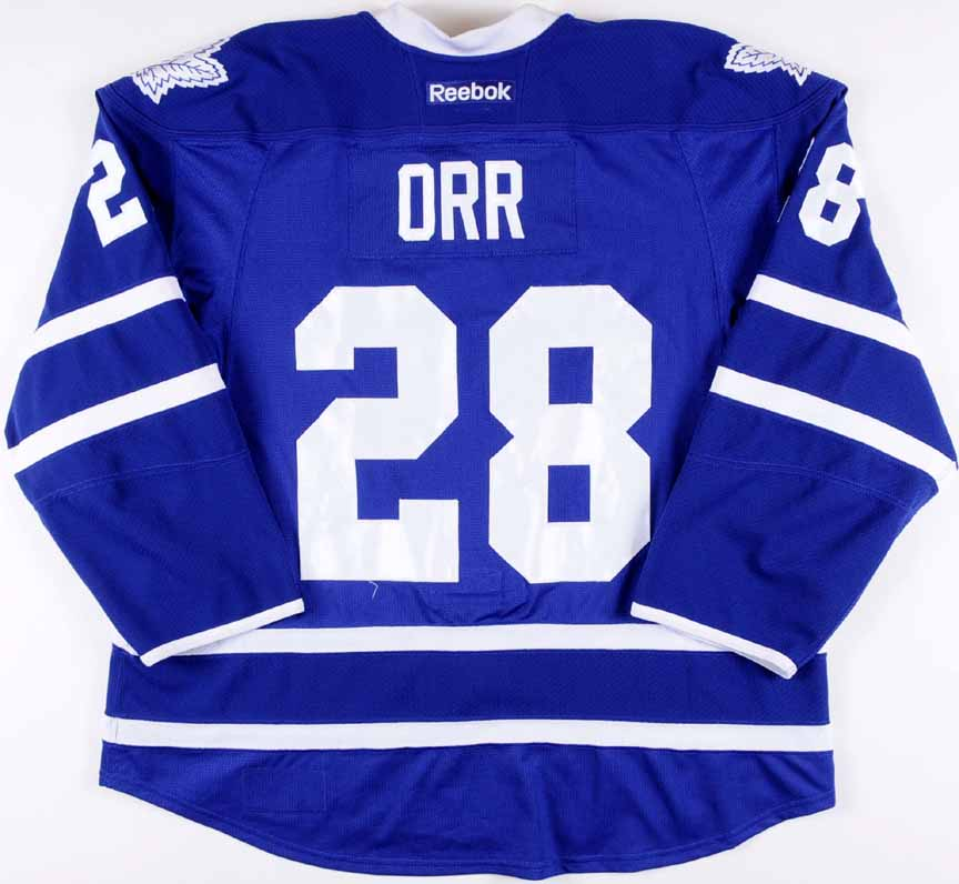 2012-13 Colton Orr Toronto Maple Leafs Game Worn Jersey - Team ... 1a31fc227c2