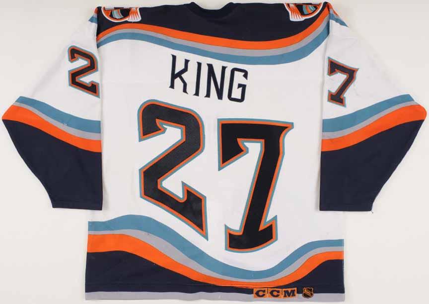 1996-97 derek king new york islanders game worn jersey -  u0026quot 25-year anniversary u0026quot