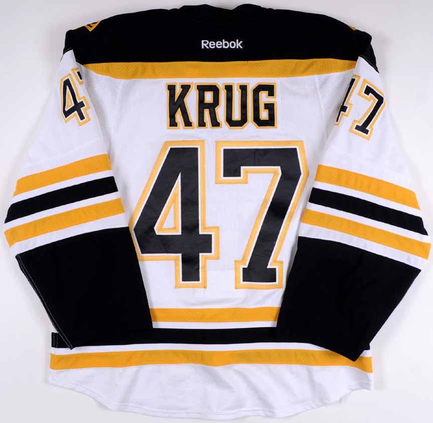 "2013-14 Torey Krug Boston Bruins Game Worn Jersey – Rookie – ""Bruins ... 0aa65da29"