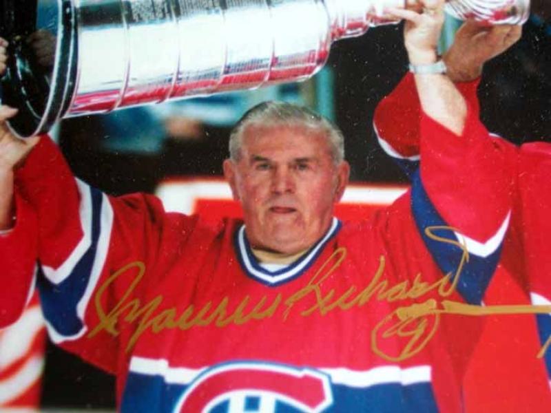 Montreal Canadiens 500 Goal Club Autogaphred Photo