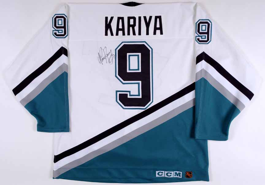 b564d5c324e Paul Kariya Anaheim Mighty Ducks Autographed Authentic Jersey ...