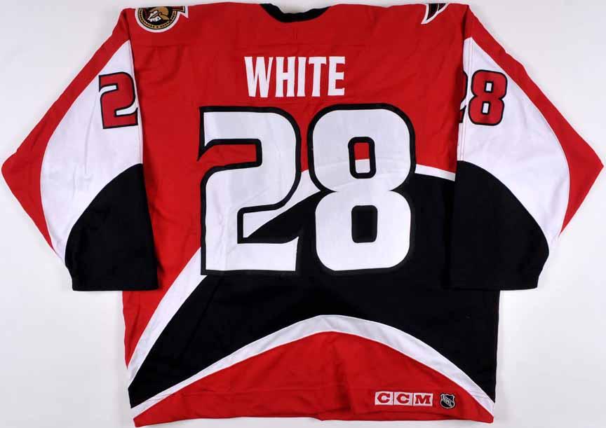 online store 7a525 73e8a 1999-01 Todd White & Joe Juneau Ottawa Senators Game Worn ...
