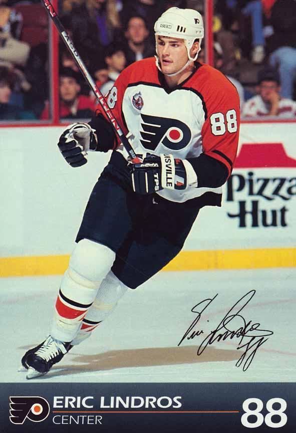 1992 93 Eric Lindros Philadelphia Flyers Game Worn Jersey