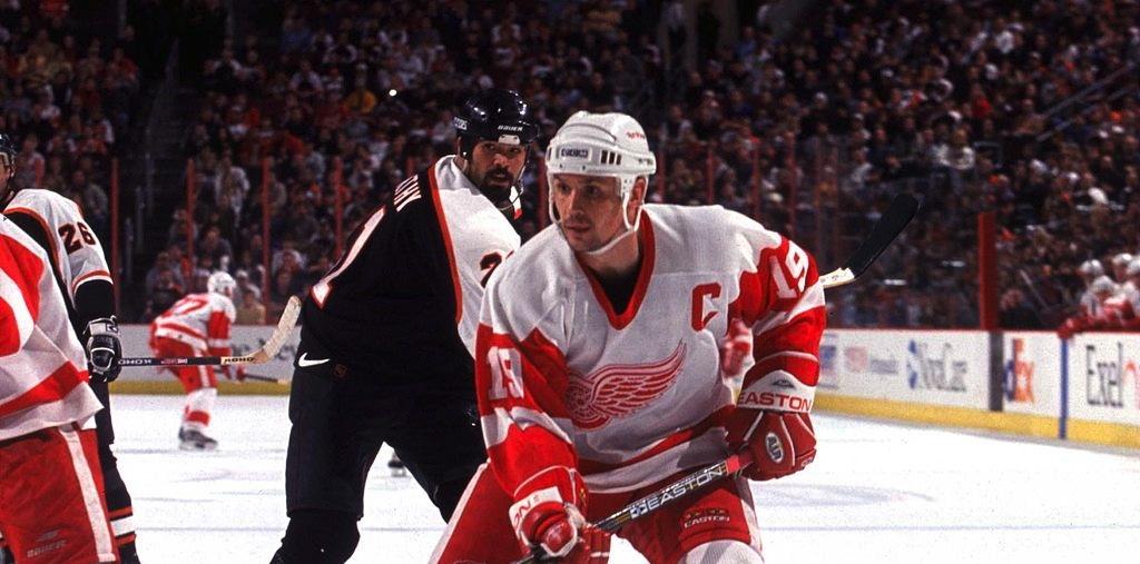 28bc746f633 1998-99 Steve Yzerman Detroit Red Wings Game Worn Jersey ...