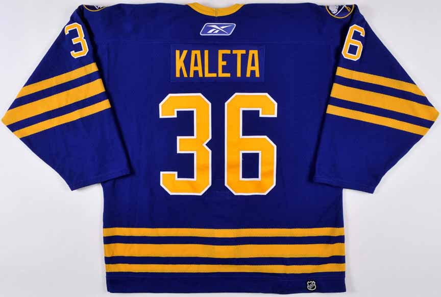 new product f14cc 82d4b 2006-07 Patrick Kaleta Buffalo Sabres Game Worn Jersey ...