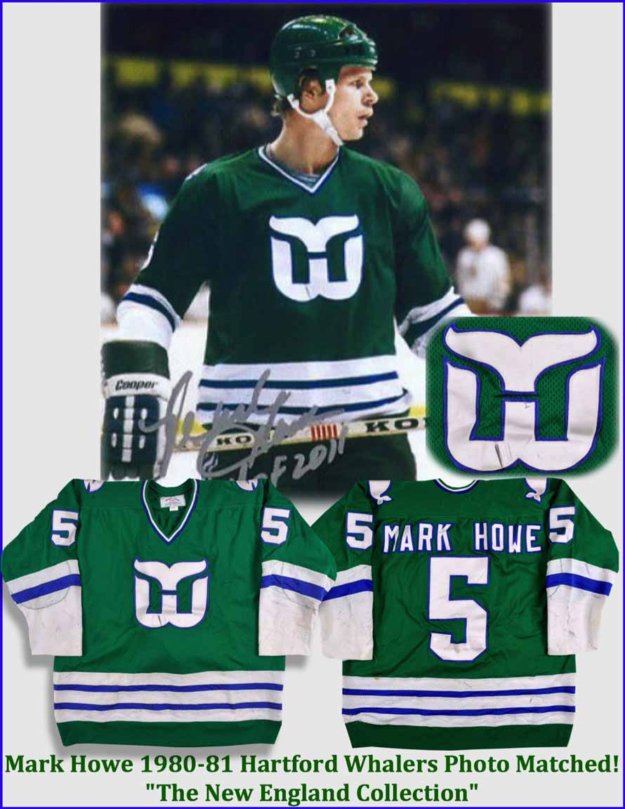 best sneakers 7d518 f9683 1980-81 Mark Howe Hartford Whalers Game Worn Jersey - Photo ...