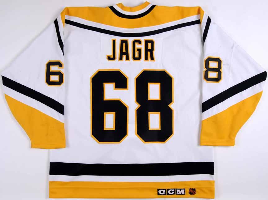 1994-95 Jaromir Jagr Pittsburgh Penguins Game Worn Jersey - Art Ross ... 263e22338