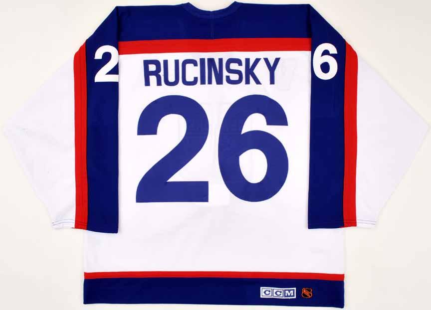 quality design 8efc5 ca6b3 2003-04 Martin Rucinsky New York Rangers Game Worn Jersey ...