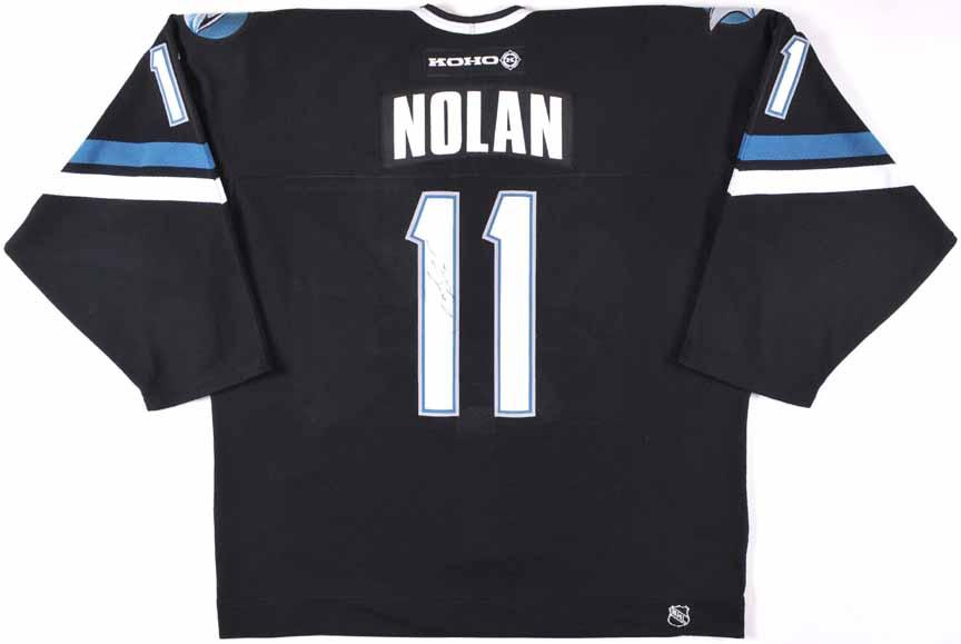 online store 0d4d0 70f43 2002-03 Owen Nolan San Jose Sharks Game Worn Jersey ...