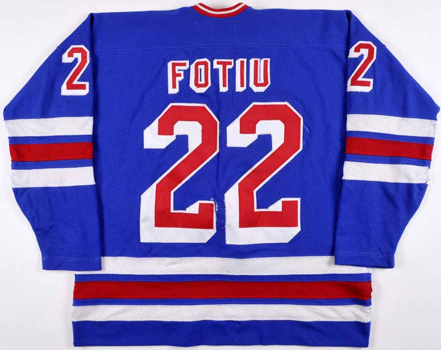 half off aedd7 05d72 1984-85 Nick Fotiu New York Rangers Game Worn Jersey ...