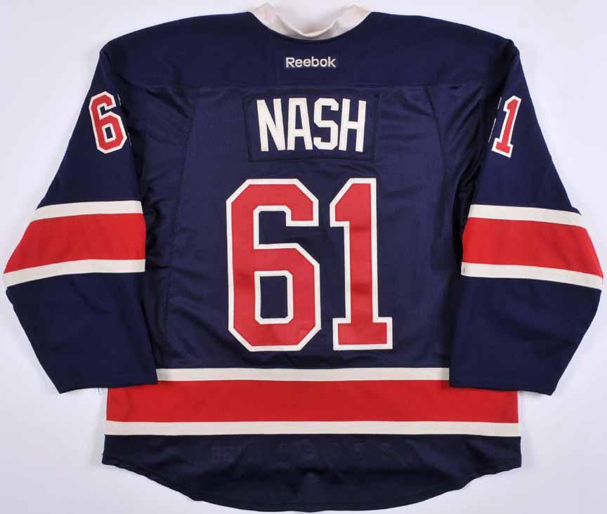 uk availability 8248d 8e454 2014-15 Rick Nash New York Rangers Heritage Game Worn Jersey ...