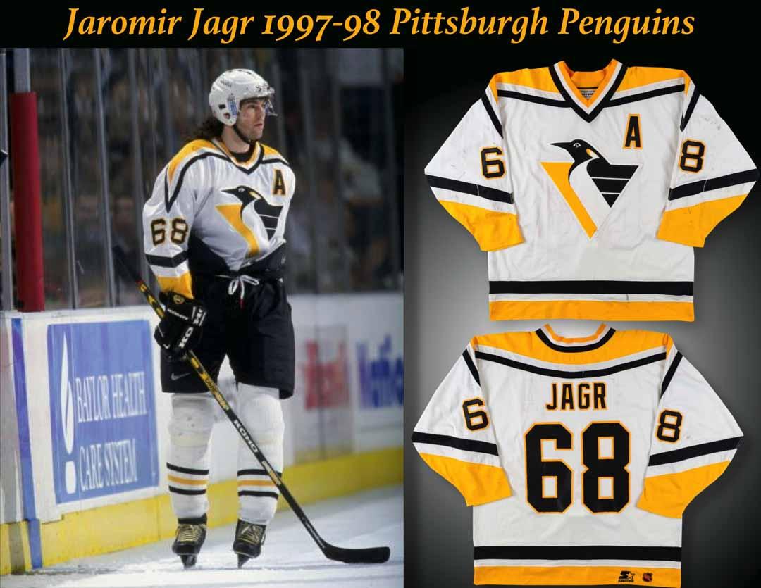 separation shoes c4ca6 95698 1997-98 Jaromir Jagr Pittsburgh Penguins Game Worn Jersey ...