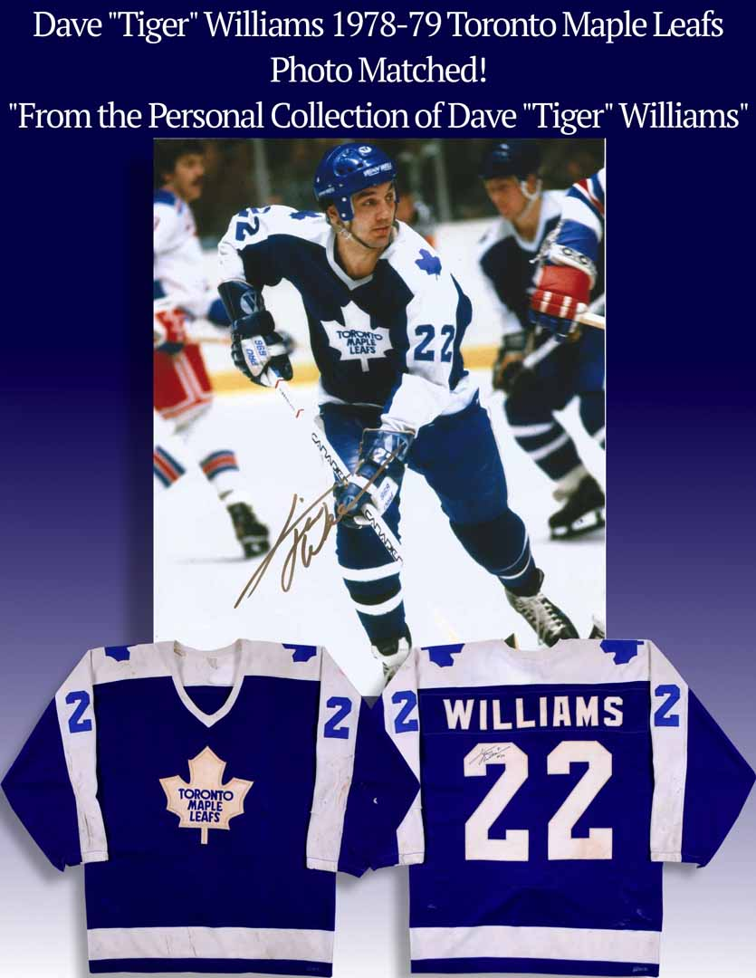 """finest selection 2f646 6c32e 1978-79 Dave """"Tiger"""" Williams Toronto Maple Leafs Game Worn ..."""