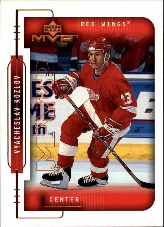 1998 99 Vyacheslav Kozlov Detroit Red Wings Game Worn Jersey Photo