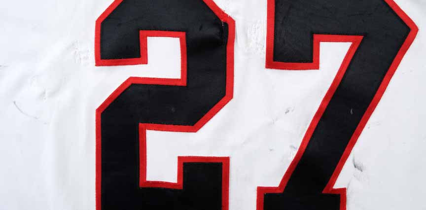 1993-94 Jeremy Roenick Chicago Blackhawks Game Worn Jersey - Career ... 5e9957fd3