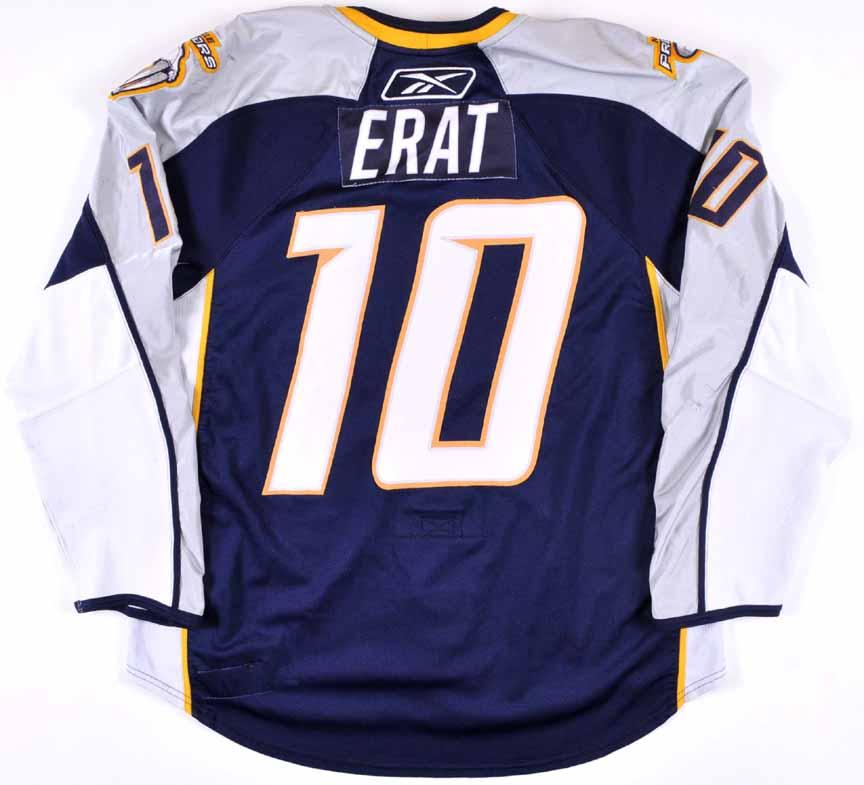 2007 08 martin erat nashville predators game worn jersey for Nashville predators jersey