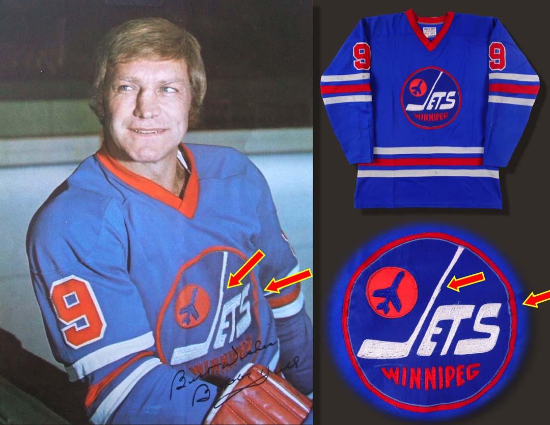 newest 27d36 b2cb7 1974-75 Bobby Hull WHA Winnipeg Jets Game Worn Jersey - MVP ...