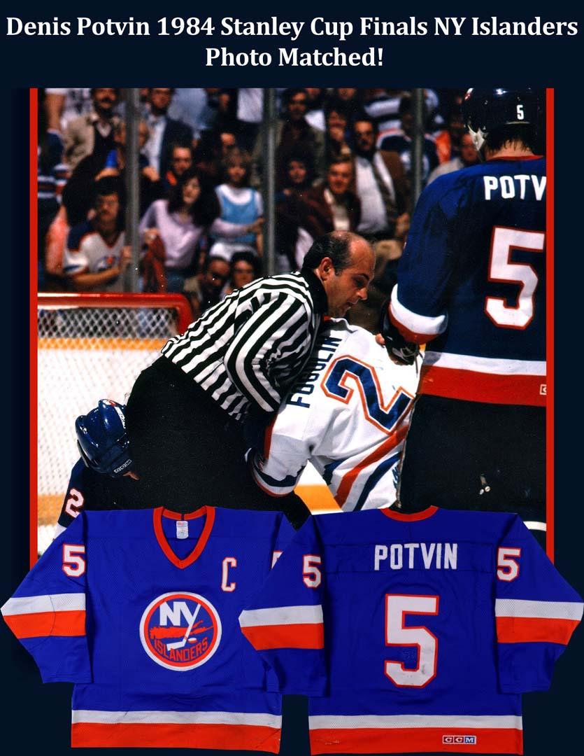 1983-84 Denis Potvin New York Islanders Stanley Cup Finals ...