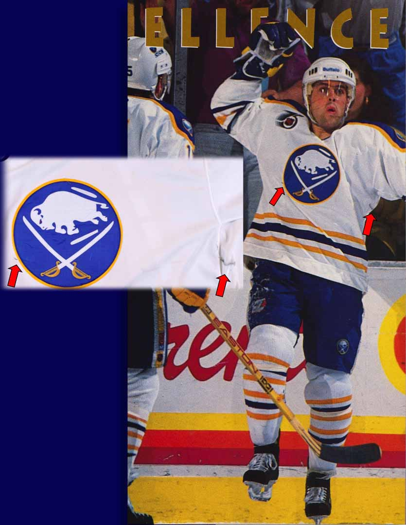 6f4a31ad0 1991-92 Pat Lafontaine Buffalo Sabres Game Worn Jersey - Photo Match ...