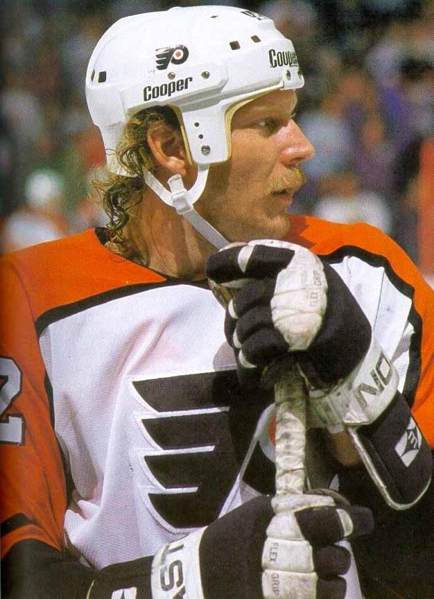 1985 Tim Kerr Philadelphia Flyers Practice Worn Jersey
