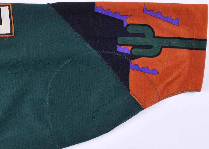 b99426844 1999-00 Mike Sullivan Phoenix Coyotes Game Worn Jersey – Alternate ...