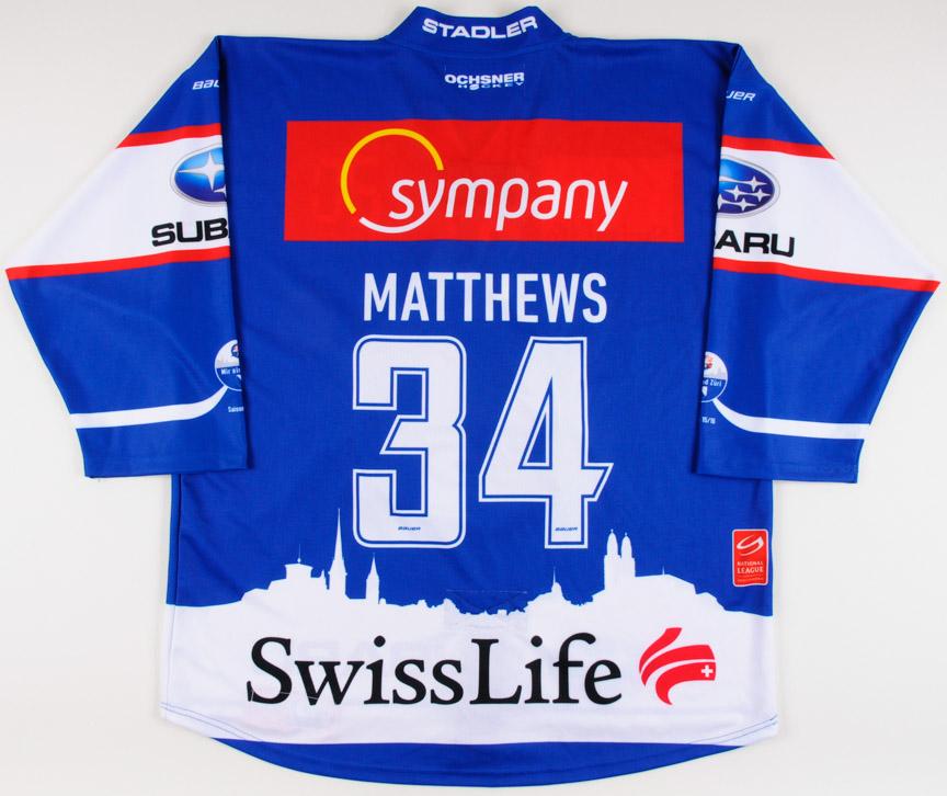 2015-16 Austin Matthews Zurich SC Lions Game Worn Jersey – Team ... 1c9b33a731c