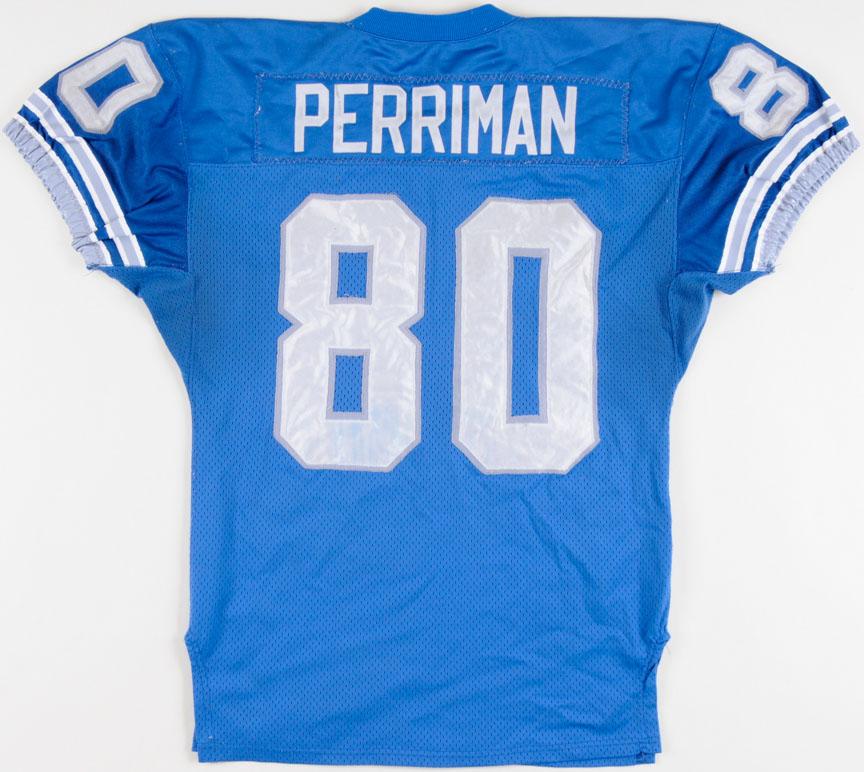 1994 Brett Perriman Detroit Lions Game Worn Jersey ...