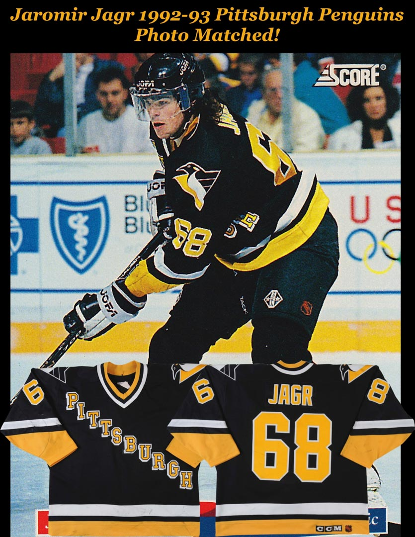 1992-93 Jaromir Jagr Pittsburgh Penguins Game Worn Jersey - 3rd NHL ... 13edeb504