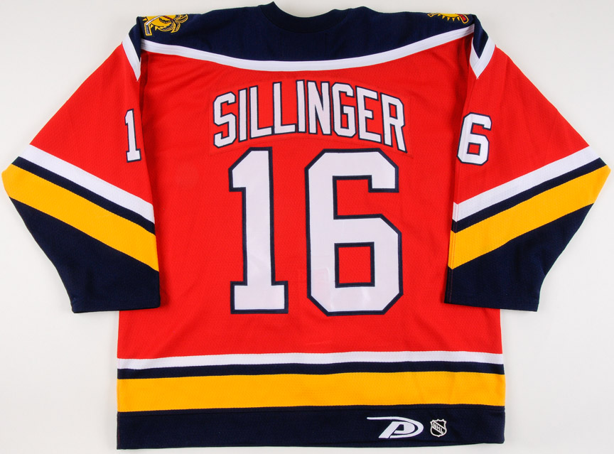 new concept 89ce7 f6a64 1999-00 Mike Sillinger Florida Panthers Game Worn Jersey ...