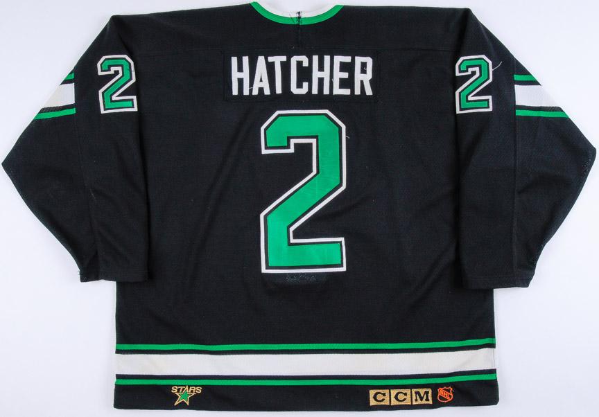 1992-93 Derian Hatcher Minnesota North Stars Game Worn Jersey - 2nd ... 26a7aac4e