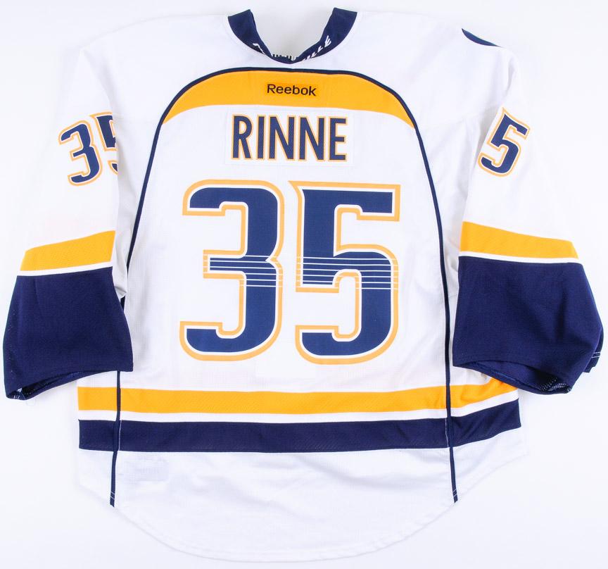 new arrival ca111 0ce5f 2014-15 Pekka Rinne Nashville Predators Game Worn Jersey ...