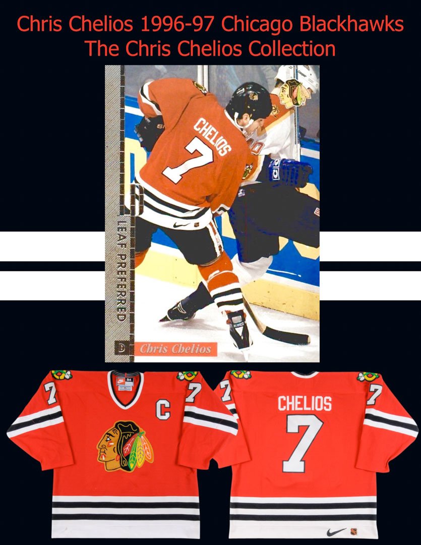 1996-97 Chris Chelios Chicago Blackhawks Game Worn Jersey - All Star ... eb1a28697