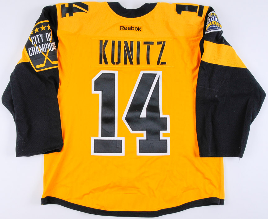 new product 19638 5ce95 2016-17 Chris Kunitz Pittsburgh Penguins Game Worn Jersey ...