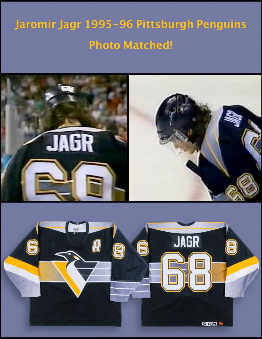 a9d230e5a 1995-96 Jaromir Jagr Pittsburgh Penguins Game Worn Jersey ...