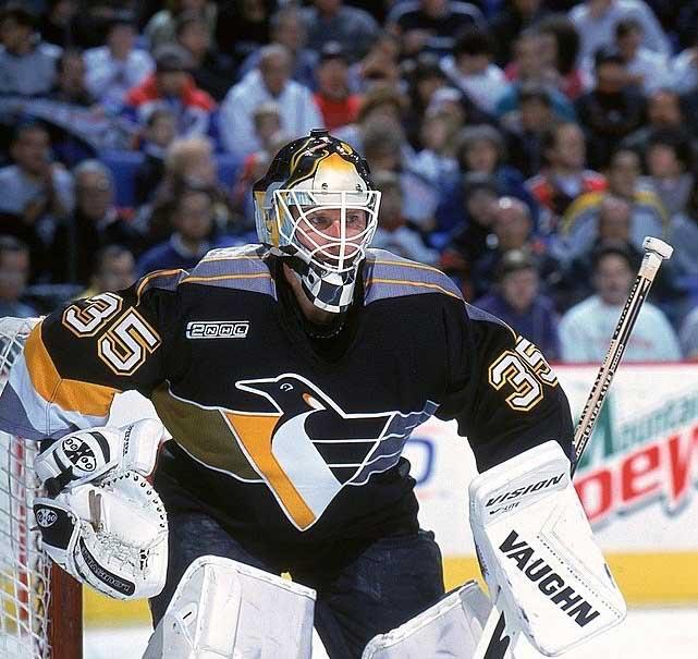 d08063d07fd 1999-00 Tom Barrasso Pittsburgh Penguins Game Worn Jersey ...