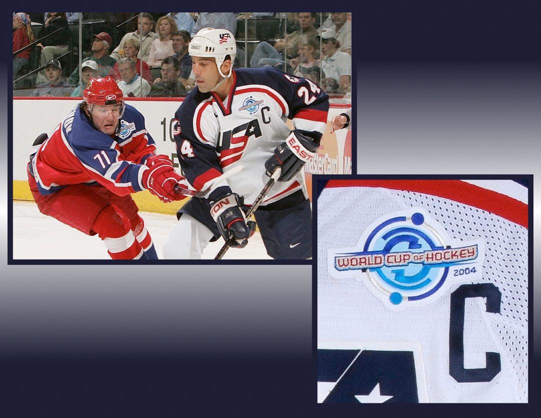 32c8cc94387 2004 Chris Chelios Team USA World Cup of Hockey Game Worn Jersey ...
