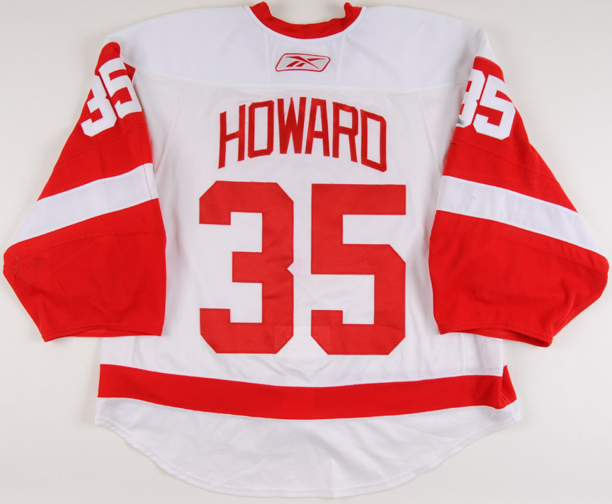 pretty nice b9778 8297a 2009-10 Jimmy Howard Detroit Red Wings Game Worn Jersey ...