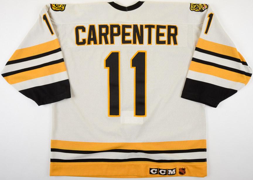 "2325039db 1989-90 Bobby Carpenter Boston Bruins Game Worn Jersey – ""1990 ..."