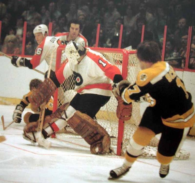 1973-74 Derek Sanderson/Bobby Schmautz Bruins Game Worn ... Bruins Roster 1973