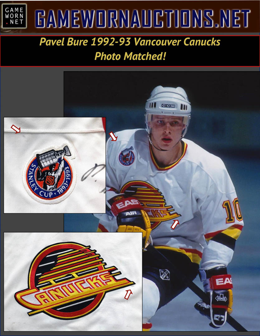 6f24fd4ba4f 1992-93 Pavel Bure Vancouver Canucks Game Worn Jersey - Career Best ...