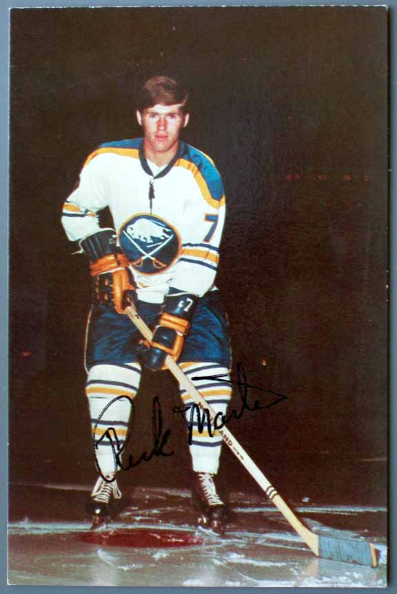 Early 1970s Buffalo Sabres Autographed Color Postcard